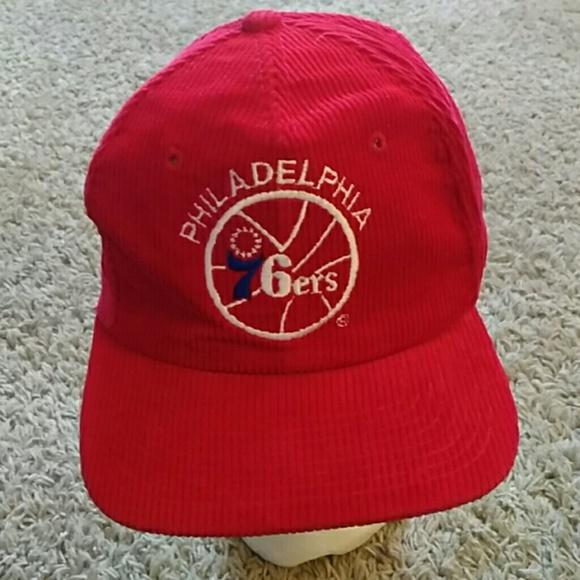 Vintage Philadelphia 76ers Red Corduroy NBA Hat. M 5b95824dd6dc52d2ed7915c0 624de3dea26